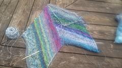 Marled Magic Mystery Knit-A-Long (chaotick) Tags: sockyarn fingering yarn wool blue gray marled kal knit hfswmkal2017 mysterymarledshawlkal westknits