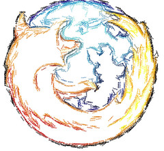 Firefox Textorized (psd) Tags: logo firefox generated textorized