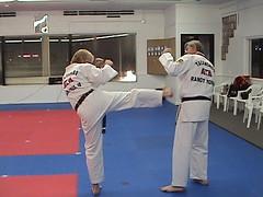 Karate 5 (G.R.G.) Tags: white black belt fight kick taekwondo camo defend
