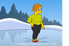 Simpsonized Rochelle (Rochelle, just rochelle) Tags: simpsons librarians rochellehartman springfieldpubliclibrary