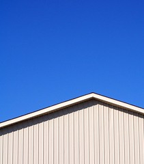 Plain and Simple (javanutmom) Tags: blue roof sky beautiful lines vertical tag3 taggedout catchycolors amazing tag2 tag1 angles peak loveit photodomino lookatme linear jnmphoto themenegativespace photodomino208