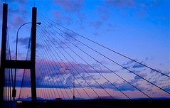 On Top of the Alex Fraser Bridge (Mrs. Terry) Tags: architecture bridges sunsets motionblur abstracts alexfraserbridge natureslight instantfave vancouverbccanada flickrific photosbyterry copyright2007byteresamforrest diamondclassphotographer flickrdiamond