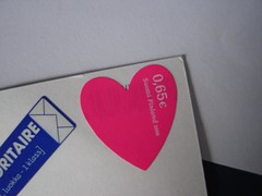 ♥ stamp from Finland ♥ (camilasofies) Tags: pink cute finland heart postcrossing stamp coração ♥ selo finlândia