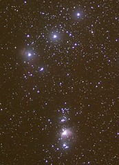 Orion Belt region (makelessnoise) Tags: night stars belt skies flame nebula astrophotography orion m42 astronomy horsehead constellation astrohpoto makelessnoise pleaseasktousethis