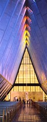 Academy Chapel (Heaven`s Gate (John)) Tags: usa color colour art church glass architecture geotagged colorado interior religion chapel stainedglass coloradosprings imagination airforce heavensgate johndalkin geolat39008355 geolon104890391