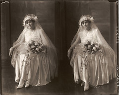 Bride (whoever, whomever) Tags: old flowers glass floral bride married negative glassplatenegative