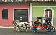 Ay Nicaragua Nicaraguita (Délirante bestiole [la poésie des goupils]) Tags: city horse color colorful granada nicaragua centralamerica cariole