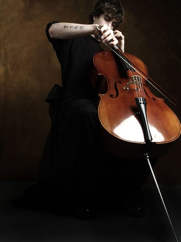 cello. music. portrait. tattoo