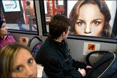 outsidelookingin (Nils Jorgensen) Tags: street bus london poster eyes streetphotography vault passenger nilsjorgensen reallyrightmoment