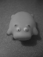 B&W (manganite) Tags: bw home japan digital fun toys pig funny asia tl plastic casio ami pigs  nippon nihon kanto ibaraki plasticanimal gurandiru manganite japanschwein badeschwein date:year=2004