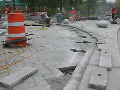 Spiral Band (LandscapeBoy) Tags: park lighting boston landscape construction granite fiberoptic pavers landscapearchitecture nashuastreetpark