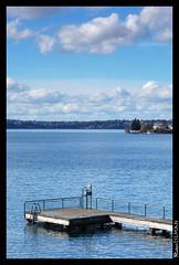 Docked Clouds (Robert Tilman) Tags: blue sky lake beach beautiful tag3 taggedout clouds d50 washington dock nikon tag2 tag1 lakewashington bellevue meydenbauer
