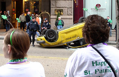 Cab Accident Amid St Patricks Day Festivities (Marc_714) Tags: flickr pittsburgh crash accident taxi police parade marc wreck stpatricksday stpattysday 714 0714 cher0213 marc714