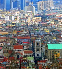 Spaccanapoli (emanelcaff) Tags: city people italy panorama italia view south napoli naples sight sud citt spaccanapoli