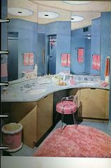 Garish Pink 50's dressing room