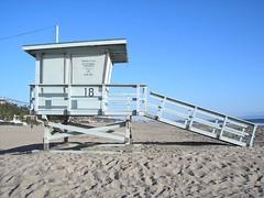 beach parasite (mc_white) Tags: beach losangeles santamonica lifeguard