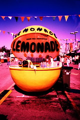 Lemonade (ljcybergal) Tags: travel pink holiday ontario canada yellow stand xpro crossprocessed colours purple crossprocess ottawa lemonade crossprocessing funfair uncropped theex lemonadestand