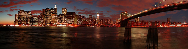 manhattan night panorama, by _gee_