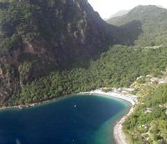 Helicopter view of The Pitons and Jalousie Beach St.Lucia (Cathieo) Tags: view aerial helicopter picturesque stlucia pitons