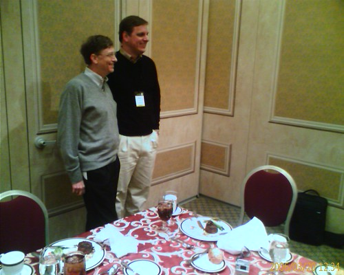 Bill Gates and Michael Arrington