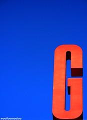 """""""g"""" (woolloomooloo) Tags: blue red sky orange g woolloomooloo coolpix oc goodmorning nikondigital graphicsign iamgratefulfor"""