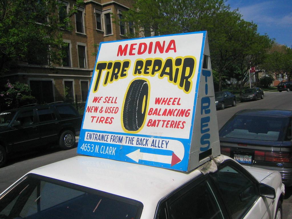 Medina Tire Shop Sign
