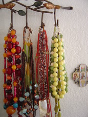 Birds on the wall (Elena777) Tags: house home birds wall necklace beads interestingness bedroom iron jewelry icon hanging hook anthropologie orthodox hanger organized necklaces prettyorganized interestingness90 interestingness99 interestingness137 interestingness447 i500 abovedresser explore02april2006