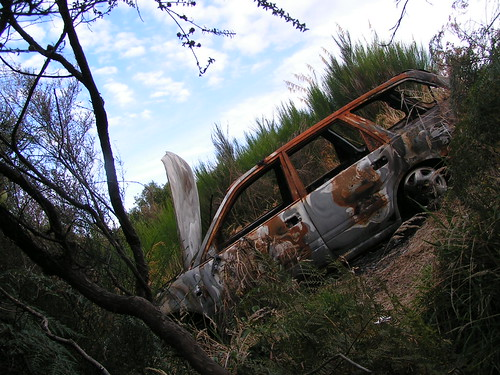 burnt-out old car 2