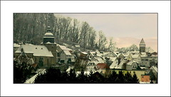 fairytale snow (S. Lo) Tags: travel snow germany deutschland europe hesse rooves gudensberg