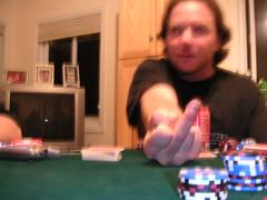 Mark's Friendly Poker Closeup (cmeredith3005) Tags: game hawaii oahu mark poker card hi waimanalo mccarthy markmccarthy