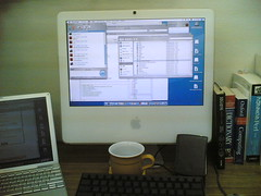 iMac (kenic) Tags: white black cup computer powerbook macintosh mac keyboard g4 imac desk duo palm intel oxford computing msn core perl pfu hhkb