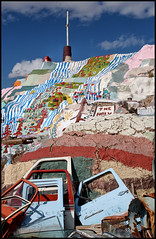 Salvation Mountain, Slab City, Niland, California (shadowplay) Tags: god obsession cardoor christianity windshields salvationmountain slabcity niland leonardknight