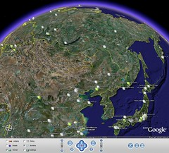 SKMap in Google Earth - by kengo