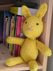 I call him butterscotch (stupid clever) Tags: bunny wool toy knitting knit yarn jesshutchbunny
