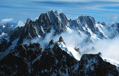 France Aiguille du Midi (Stephen P. Johnson) Tags: france mountains alps beautiful canon wow mt velvia chamonix blanc myexplore abigfave