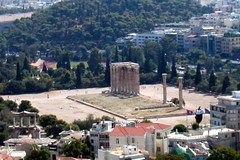 Athens: Temple of Olympian Zeus - View from Acropolis (wallyg) Tags: temple ruins europe roman hellas athens greece zeus mythology hadrian greekmythology ancientgreece  greektemple templeofolympianzeus   hellenicrepublic olympeion  hellenistc
