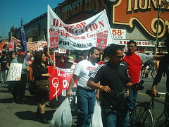 No One Is Illegal  National Day of Action - Toronto March, Saturday May 27, 2006 - 015 (HiMY SYeD / photopia) Tags: people toronto march civilrights socialjustice workersrights nooneisillegal immigrantrights