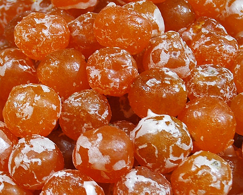 Candied apricots