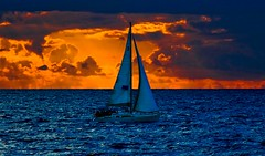 Sailing at the stormy sunset - Tel-Aviv beach (Lior. L) Tags: sailingatthestormysunsettelavivbeach sailingatthestormysunset telaviv beach sailing stormy sunset telavivbeach sail sailboat clouds cloudysunset weather stormyweather israel travel travelinisrael sea seascapes sky