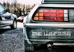 1.21 jigawatts!  Great Scott! (Desolate Places) Tags: new york upstate roadside delorean backtothefuture martymcfly docbrown