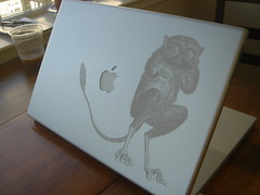 my laser etched powerbook (pt) Tags: oreilly apple make powerbook laser unix