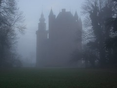Castle Mist (James @ NZ) Tags: autumn trees mist castle netherlands fog wow spire breukelen nijenrode nyenrode universiteitnyenrode 123hallofame