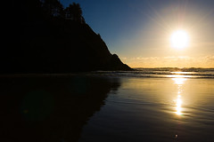 Heceta Shore Sunset - Heceta Beach, Oregon (Nativeagle) Tags: oregon beaches hecetabeachoregon oregoncoast navajo native nikon