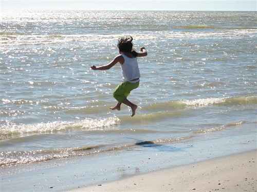 The Child Leaps Into the Ocean