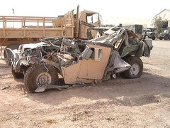 Destroyed Humvee in Iraq