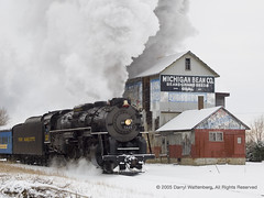 Pere Marquette 1225 Passes the Michigan Bean Company
