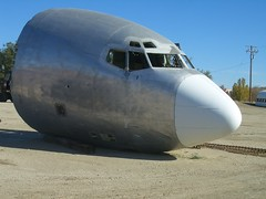 Severed 707 Nose Section (2005) (Telstar Logistics) Tags: ruins aircraft 707 boneyard elmirage aviationwarehouse jetsetruins