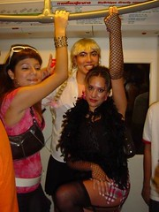 Getting ready (President of the plastic models club) Tags: me girl asiangirl halloween party friends thailand
