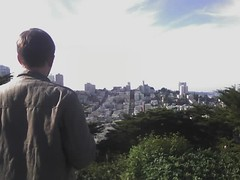 Paul looking out over San Francisco