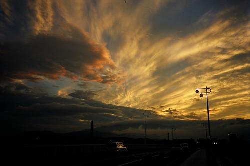 Sunset in Fukushima